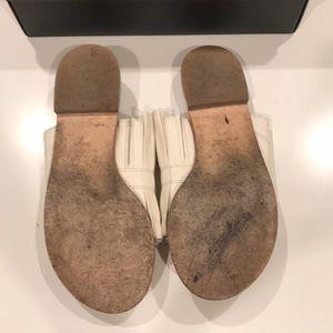 Tibi Shoes - Tibi Jill Pleated Leather Slides (Size 38.5)